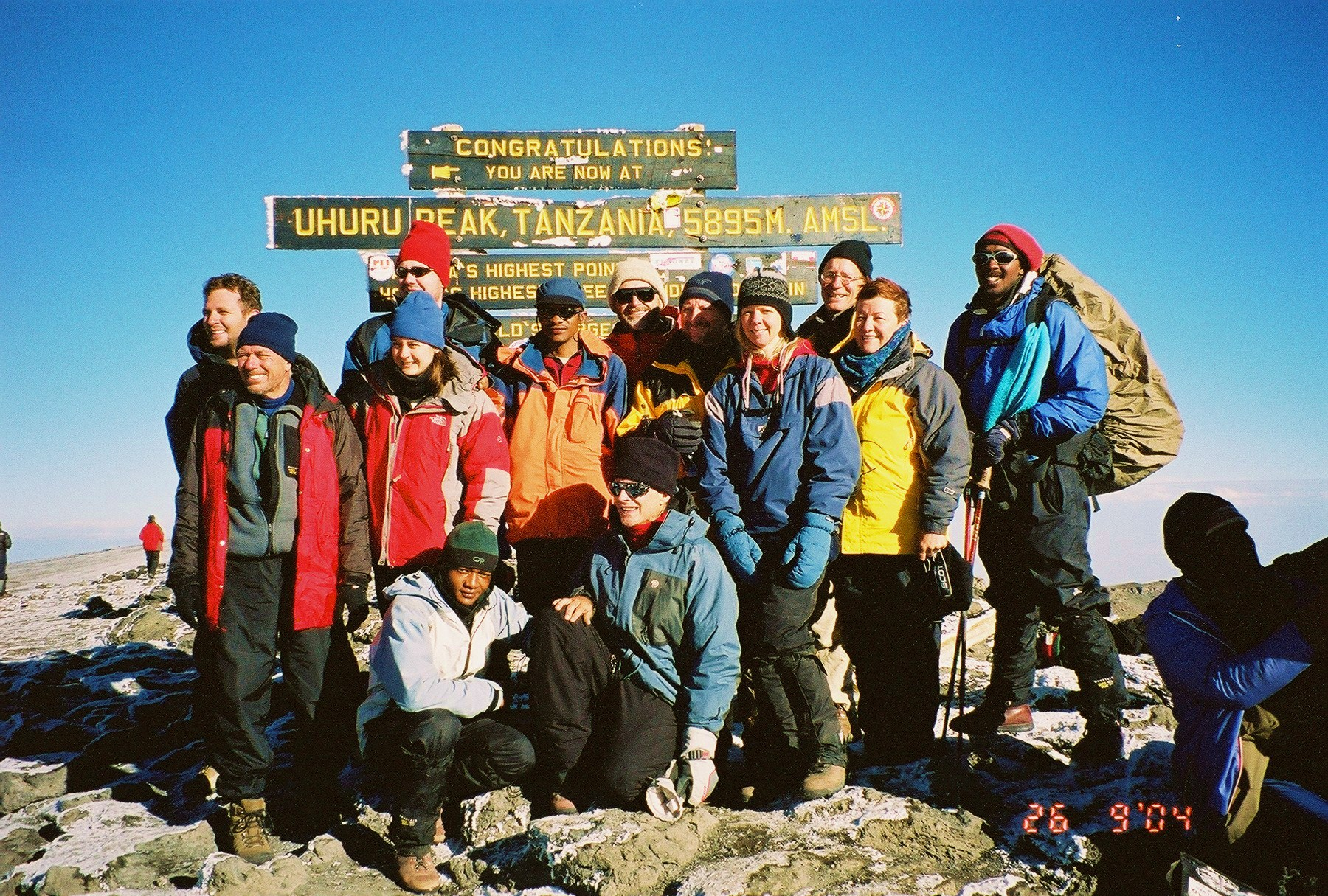 Our group at the summit marker.